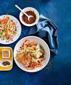 Bang bang chicken and noodles (China)