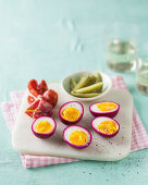 Dutch pickled eggs
