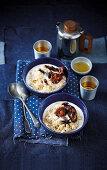 Scotch whisky porridge with poach plums