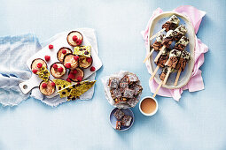 Frozen Cookies and Cream Cheesecake Pops, Chocolate Mousse Cups, Hedgehog Slice