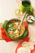 Sweet potato and chickpea dhal