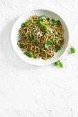 Power pesto with spagetti
