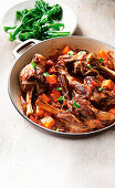 Lamb shanks with star anise and sweet potato