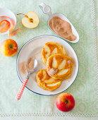 Apple pancakes with cinnamon sugar