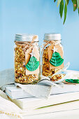 Cranberry and apple granola