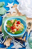 Orecchiette prawn salad