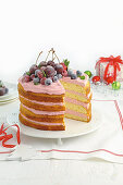 Frosted Christmas Cake