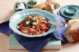 Sausage and tomato risotto