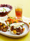 Curried mince pappadum Stacks