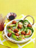 Fish Cake Salad Boats