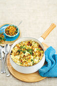 Brown rice and cauliflower risotto