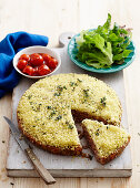 Chickpea and couscous meatloaf