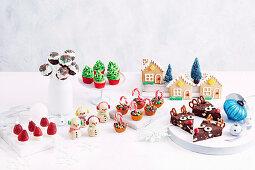 Verschiedene süsse Kleinigkeiten fürs Weihnachtsfest und zum Verschenken