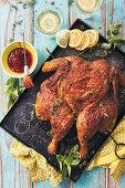A peri-peri roast chicken