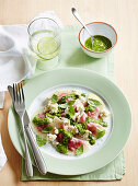 Beetroot Agnolotti with Spinach Pesto