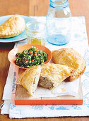 Chicken pasties with kale tabouli