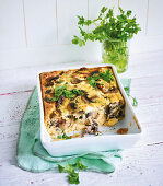 Mushroom frittata with feta cheese (low carb)