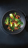 Lamb and pak choy stir-fry