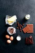 Ingredients for Kit Kat Cake