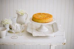 Upside down orange cake
