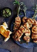 Grilled lamb skewers
