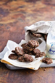Flourless chocolate biscuits