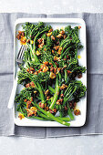 Broccolini with anchovy almonds