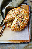 Cheese-filled oat damper (Anzac Day, Australia)