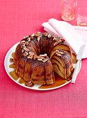 Cinnamon pecan tea cake