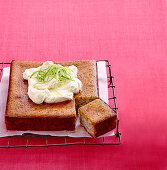 Lime and poppy seed syrup cake