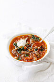 Indian-spiced lamb and chickpea soup