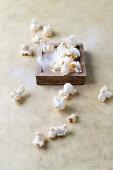 Homemade salted popcorn