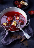 Spicy, warm fruit jelly (soup)