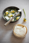 Salted Cake with Spinach and Robiola di Roccaverano Cheese