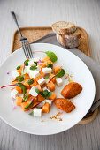 Melon and Mint Salad with Quartirolo Cheese