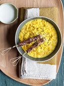 Risotto with coconut milk and saffron