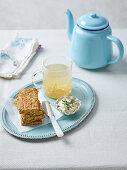 Savoury Zucchini and Carrot Bars and Morning Ginger Tea