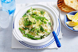 Risotto mit grünen Bohnen und Minze