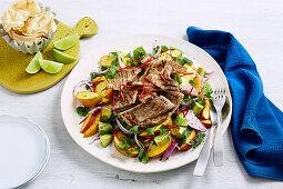 Curried Turkey and Peach Salad
