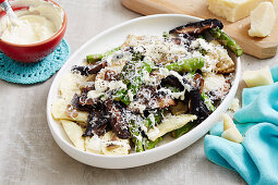 Agnolotti with Asparagus and Mushroom