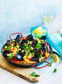 Seafood Paella (One pan wonder)