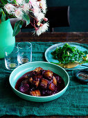 Sweet and Sour Pork with Davidson s plums