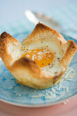 Egg in Toast with Parmesan cheese