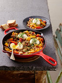 Sweet Pepper Casserole with Buckwheat and Eggs