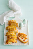 Cheese and egg strudel