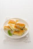 Lemon and ricotta puff pastries