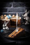 Simnel cake (English Easter fruit cake)