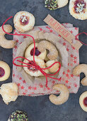 Cookies in a paper rosette bowl