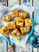 Grillen corn cobs