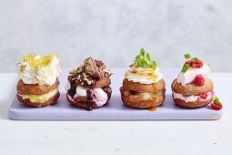 Four varieties of Doughtnuts